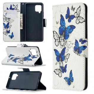 Für Samsung Galaxy A42 5G A426B Kunst-Leder Handy Tasche Motiv 6 Hülle Case Etui