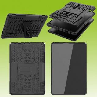 Für Amazon Fire HD 10 / 10 Plus 2021 Hybrid Schwarz Tablet Tasche Etuis Hülle