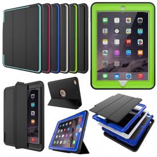 Hybrid Outdoor Schock Case für Apple iPad Tasche Hülle Mehrteilig Schutz Cover