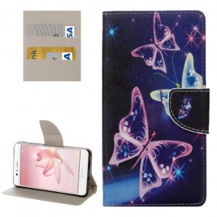 Schutzhülle Muster 28 für Huawei P10 Bookcover Tasche Case Hülle Wallet Etui Neu