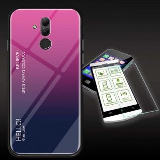 Für Huawei Mate 20 Lite Color Effekt Pink Tasche Hülle + H9 Hart Glas Cover Neu
