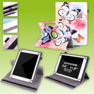 Für Huawei MediaPad M5 Lite 360 Grad Rotation 3 Tablet Tasche Kunst Leder Etuis