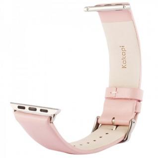 Echtleder Leder Armband Rosa für Apple Watch Lederarmband 38 mm iWatch Zubehör - Vorschau 2