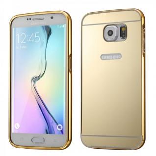 Alu Bumper 2 teilig Abdeckung Gold für Samsung Galaxy S6 Edge Plus G928F Tasche