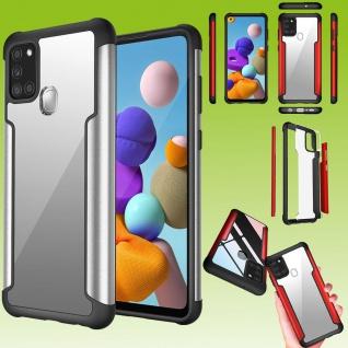 Für Samsung Galaxy A21s Hybrid Iron Man Silber Handy Tasche Etuis Hülle