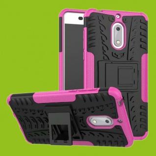 Für Nokia 3.1 5.2 Zoll Hybrid Case 2teilig Outdoor Pink Tasche Hülle Cover Neu
