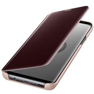Samsung Flip Tasche Clear View EF-ZG965CFE für Galaxy S9 Plus G965F Cover Gold