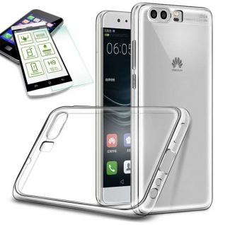 Silikoncase Transparent Tasche + 0, 3 H9 Panzerglas für Huawei P10 Lite Hülle Neu