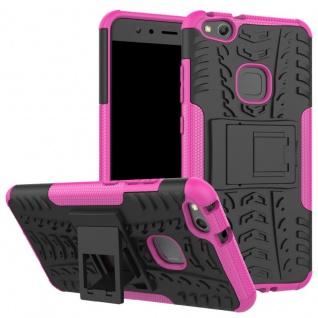 New Hybrid Case 2teilig Outdoor Pink für Huawei P10 Lite Tasche Hülle Cover Neu