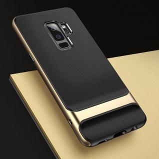 Original ROCK Silikon Case Tasche Schwarz / Gold für Samsung Galaxy S9 Plus Neu