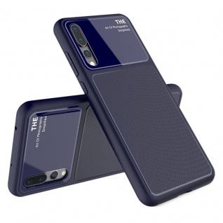Design Cover Blau für Huawei P20 Pro TPU Silikon Schutz Tasche Hülle Case Neu