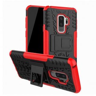 Hybrid Case 2teilig Outdoor Rot Tasche Hülle für Samsung Galaxy S9 G960F Hülle