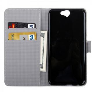 Schutzhülle Muster 35 für HTC One A9 Tasche Book Cover Case Hülle Etui Schutz - Vorschau 2