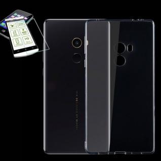 Silikoncase Transparent Tasche + H9 Hartglas für Xiaomi Mi MIX Hülle Schutz