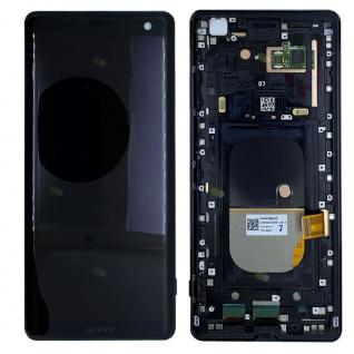 Sony Display LCD mit Rahmen für 1315-5026 Xperia XZ3 Reparatur Schwarz Ersatz