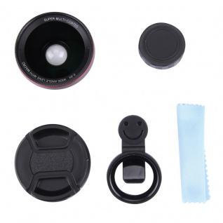 Universal Kamera Makro Weitwinkel Fischauge Objektiv Linse für Smartphone Tablet - Vorschau 5