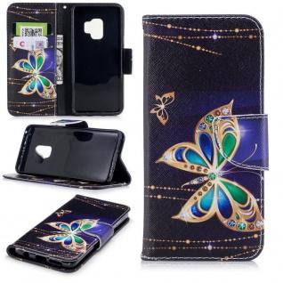 Tasche Wallet Book Cover Motiv 21 für Samsung Galaxy S9 G960F Hülle Case Etui