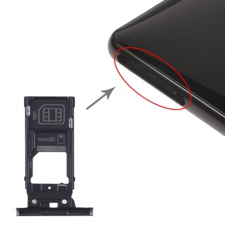 Für Sony Xperia XZ2 SIM Karten + SIM Karten Halter + Micro SD Card Tray Schwarz