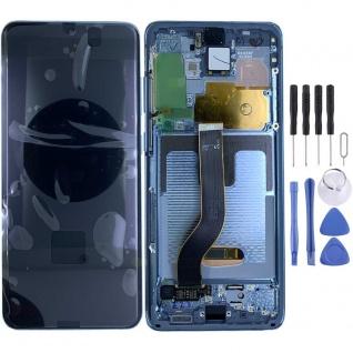 Samsung Display Ersatz LCD Komplett für Galaxy S20 Plus G985F GH82-22145D Blau