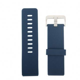 Kunststoff / Silikon Uhr Armband für Fitbit Blaze Watch Dunkel Blau 17-20 cm - Vorschau 2