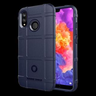 Für Huawei P20 Shield Series Outdoor Blau Tasche Hülle Cover Schutz Case Etui