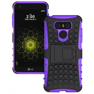 Hybrid Case 2teilig Outdoor Lila für LG G6 H870 Tasche Hülle Cover Neu Schutz