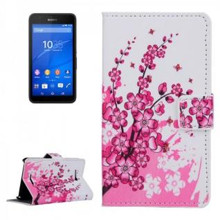 Schutzhülle Muster 6 für Sony Xperia E4G Bookcover Tasche Hülle Wallet Case