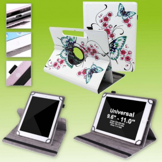 Für Lenovo Tab E10 TB-X104F 10.1 360 Grad Motiv 15 Tablet Tasche Kunst Leder Neu