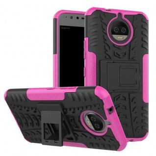 Hybrid Case 2teilig Outdoor Pink Tasche Hülle für Motorola Moto G5S Plus Etui