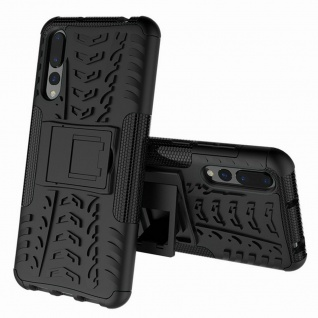 Hybrid Case 2teilig Outdoor Schwarz für Huawei Honor 8X MAX Tasche Hülle Cover