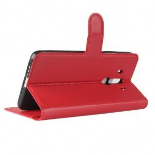 Tasche Wallet Premium Rot für Huawei Mate 10 Pro Hülle Case Cover Etui Schutz - Vorschau 2