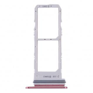 Dual Sim Karten Halter für Samsung Galaxy Note 10 Pink Card Tray