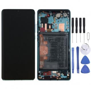 Huawei Display LCD Rahmen für P30 Pro Service 02352PGE Blau Aurora Blue Batterie