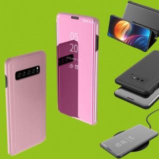Für Samsung Galaxy S10 Lite / S10E G970F 5.8 Clear View Smart Cover Pink Tasche