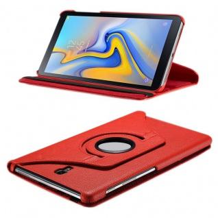 Für Samsung Galaxy Tab S4 10.5 T830 T835F Rot 360 Grad Hülle Kunstleder Tasche