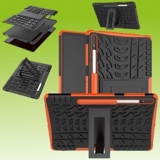 Für Samsung Galaxy Tab S7 Plus / S7 FE Hybrid Orange Tablet Tasche Etui Hülle Case Cover