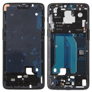 Gehäuse Rahmen Mittelrahmen Deckel für OnePlus 6 SIX Mirror Black Schwarz