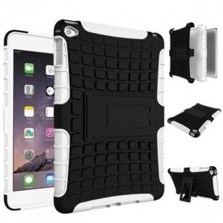 Hybrid Outdoor Schutzhülle Cover Weiß für Apple iPad 2 / 3 / 4 Tasche Case Hülle