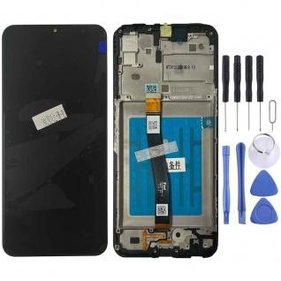 Samsung LCD Display für Galaxy A22 5G + Frame GH81-20694A Schwarz Ersatz Teil