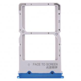 Sim Card Tray für Xiaomi Mi 9T Blau Karten Halter Schlitten Holder Ersatz Neu