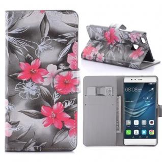 Schutzhülle Muster 63 für Huawei P9 Lite Bookcover Tasche Case Hülle Wallet Etui