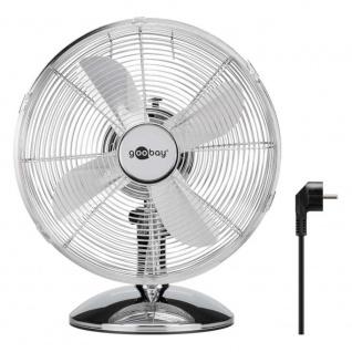 Goobay 12 Zoll Retro Tisch Ventilator Silber Neu TOP Angebot Aktion Belüftung