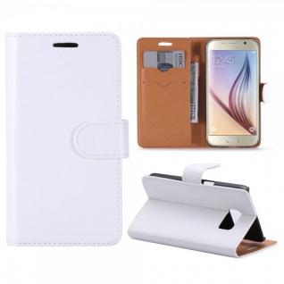 Schutzhülle Weiß für Samsung Galaxy S7 G930 G930F Bookcover Tasche Hülle Case