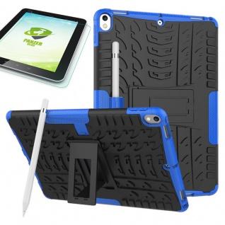 Hybrid Outdoor Hülle Blau für Apple iPad Pro 10.5 Tasche + 0.4 H9 Panzerglas Neu