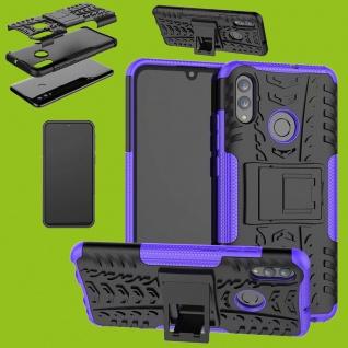 Für Samsung Galaxy A40 A405F Hybrid Case 2teilig Outdoor Lila Tasche Etuis Hülle
