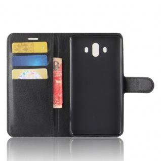 Tasche Wallet Premium Schwarz für Huawei Mate 10 Hülle Case Cover Etui Schutz - Vorschau 4