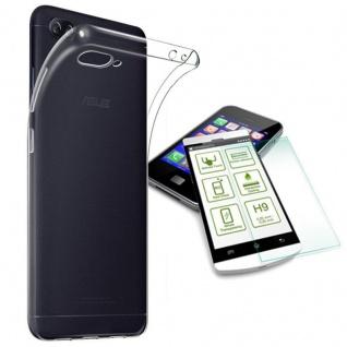Silikoncase Transparent Tasche + H9 Panzerglas für ASUS Zenfone 4 Max ZC554K Neu