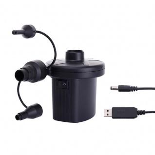 Tragbare Multifunktions Luft Pumpe elektrisch Reifen Matratze Matte USB wearable
