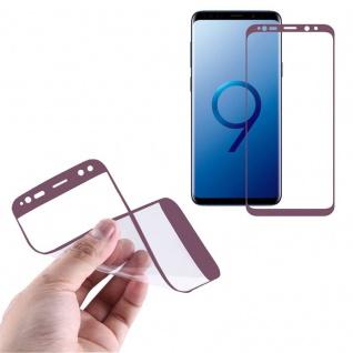 Hybrid TPU gebogene Panzerfolie Folie Lila Schutz für Samsung Galaxy S9 G960F