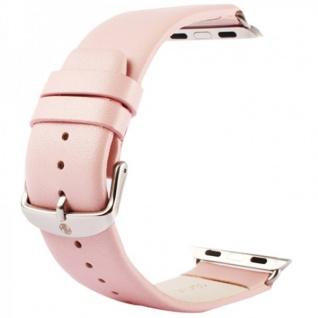 Echtleder Leder Armband Rosa für Apple Watch Lederarmband 38 mm iWatch Zubehör